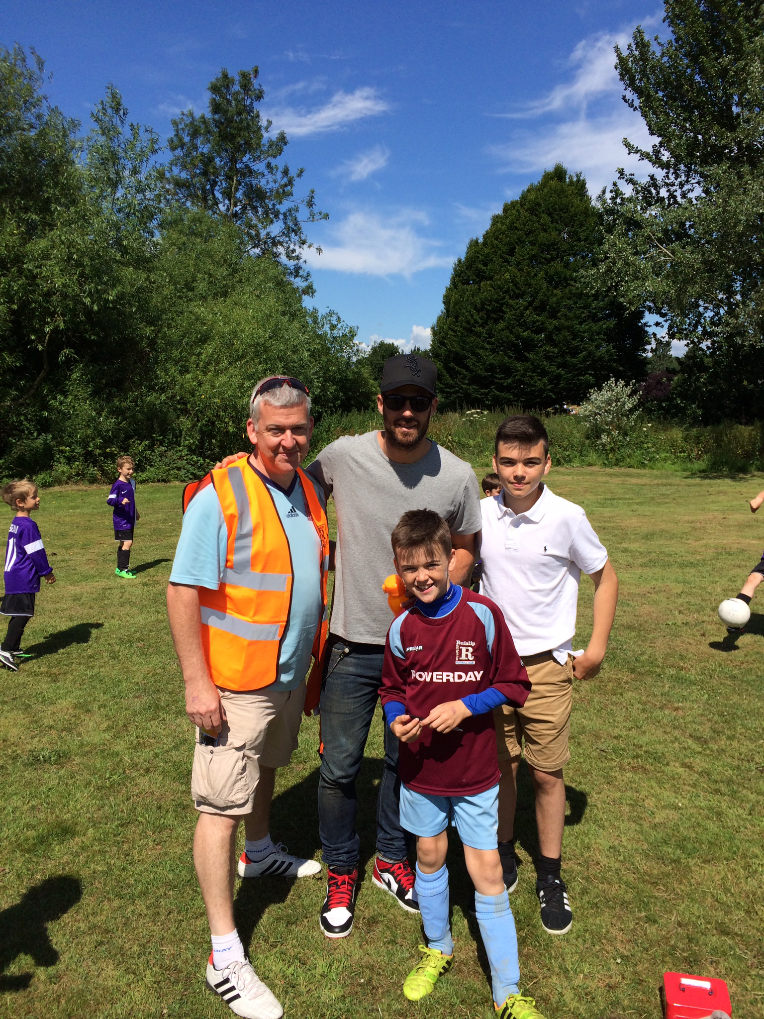 John, Michael and Sean Gowen meet Jamie Redknapp at our tournament in June 2014